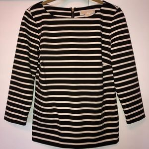 Brown and Cream Stripped shirt by Michael Kors
